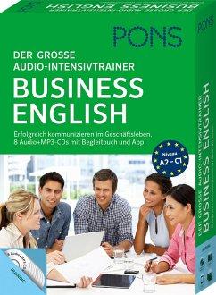 PONS Der große Audio-Intensivtrainer Business English, 8 Audio+MP3-CD mit Begleitbuch und App