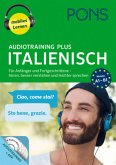 PONS Audiotraining Plus Italienisch, 4 Audio-MP3-CDs