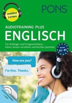 PONS Audiotraining Plus Englisch, 4 MP3-CD