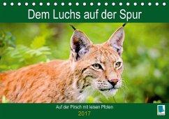 9783665583774 - CALVENDO: Dem Luchs auf der Spur (Tischkalender 2017 DIN A5 quer) - Buch