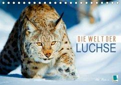 9783665583859 - CALVENDO: Die Welt der Luchse (Tischkalender 2017 DIN A5 quer) - Buch
