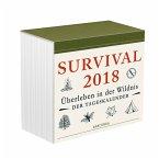 Survival 2018 - Überleben in der Wildnis, Tageskalender