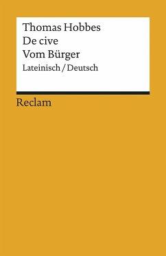 De cive / Vom Bürger - Hobbes, Thomas
