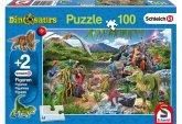 Schleich, Im Reich der Dinosaurier (Kinderpuzzle) + 2 Figuren