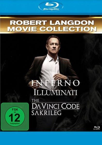 Robert Langdon 3-Movie Set: Inferno / Illuminati / The Da Vinci Code - Sakrileg