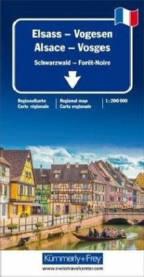 Kümmerly & Frey Karte Elsass Vogesen / Alsace Vosges