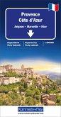 Kümmerly+Frey Karte Provence - Côte d'Azur Regionalkarte