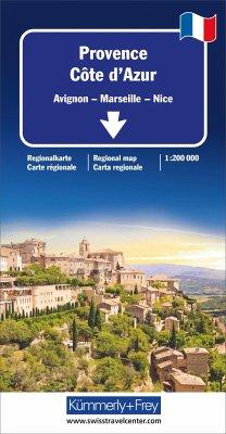 Kümmerly & Frey Karte Provence - Côte d'Azur