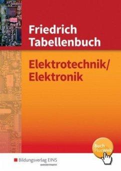 Friedrich - Tabellenbuch Elektrotechnik / Elektronik - Dümke, Andreas; Lampe, Kurt; Machon, Wolf; Milde, Helmut; Moussaoui, Mouloud; Scheurmann, Martin; Vehreschild, Karla; Zantis, Franz-Peter