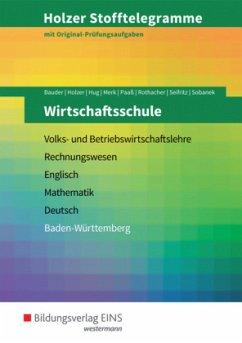 Holzer Stofftelegramme Wirtschaftsschule. Aufga...