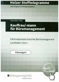 Kauffrau/-mann für Büromanagement, Gestreckte Abschlussprüfung Teil 1, Baden-Württemberg (Lösungen) / Holzer Stofftelegramme