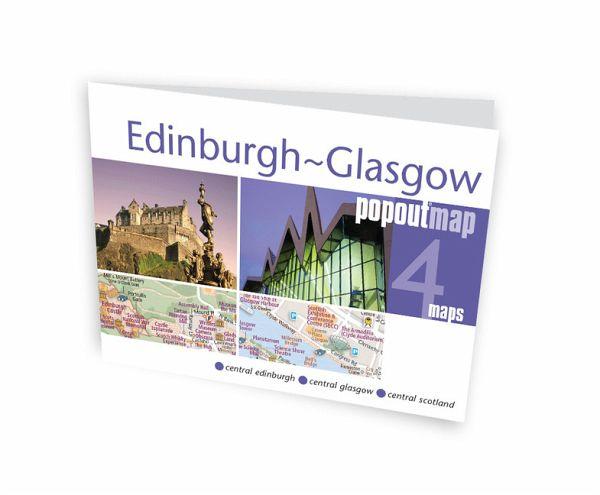Edinburgh and Glasgow PopOut Map, 2 maps - Landkarten portofrei bei ...