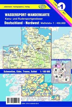 Jübermann Wassersport-Wanderkarte Nordwest
