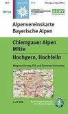 Alpenvereinskarte Chiemgauer Alpen Mitte, Hochgern, Hochfelln