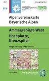 Alpenvereinskarte Ammergebirge West, Hochplatte, Kreuzspitze