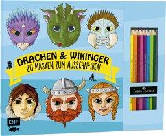Drachen & Wikinger - 20 Masken zum Ausmalen und Ausschneiden