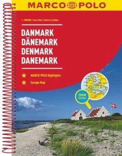 MARCO POLO ReiseAtlas Dänemark 1:200 000 - Marco Polo