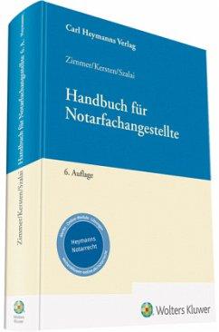 Handbuch für Notarfachangestellte - Zimmer, Maximilian; Kersten, Andreas; Krause, Thomas
