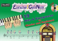 Einfacher!-Geht-Nicht: 19 Hits & Evergreens - für Klavier und Keyboard, m. Audio-CD - Leuchtner, Martin; Waizmann, Bruno
