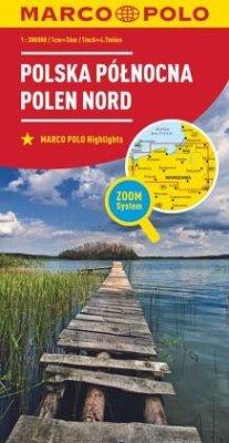 MARCO POLO Karte Polen Nord 1:300 000; Polska Pólnocna / North Poland / Pologne Nord