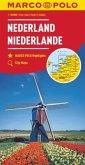 MARCO POLO Karte Niederlande 1:200 000; Nederland; Netherlands / Pays-Bas