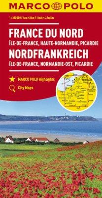 MARCO POLO Karte Frankreich Nordfrankreich 1:300 000; Northern France; France du Nord