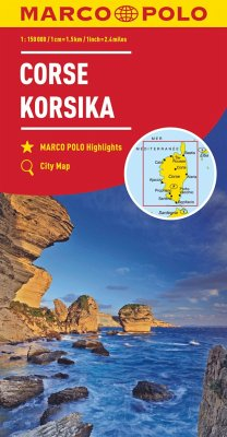MARCO POLO Karte Korsika 1:150 000; Corsica; Corse