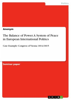 9783668363076 - The Balance of Power. A System of Peace in European International Politics (eBook, PDF) - Livre