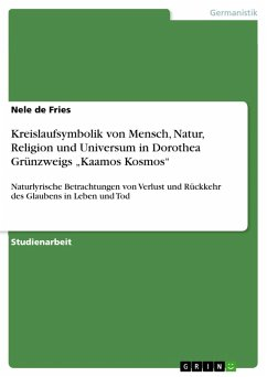 9783668363557 - de Fries, Nele: Kreislaufsymbolik von Mensch, Natur, Religion und Universum in Dorothea Grünzweigs ?Kaamos Kosmos? (eBook, PDF) - Buch