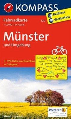 Kompass Fahrradkarte Münster und Umgebung