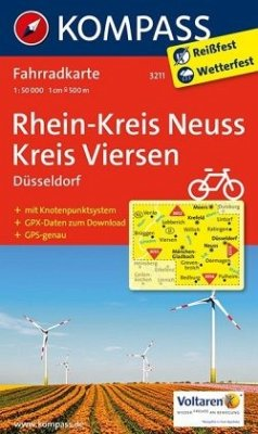 Kompass Fahrradkarte Rhein-Kreis Neuss - Kreis Viersen