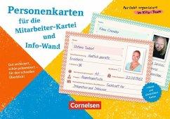 Personenkarten für Mitarbeiter-Kartei und Info-...