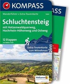 Schluchtensteig, mit Hotzenwaldquerweg, Hochrhein-Höhenweg und Ostweg - Theil, Walter