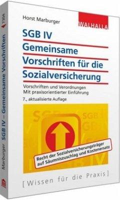 SGB IV - Gemeinsame Vorschriften für die Sozial...