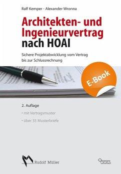 Architekten- und Ingenieurvertrag nach HOAI (eBook, PDF) - Kemper, Ralf; Wronna, Alexander
