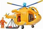 Simba 109251002 - Feuerwehrmann Sam, Sam Hubschrauber Wallaby II, mit Figur Tom