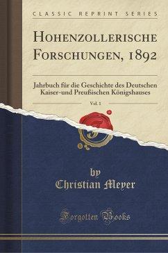 Hohenzollerische Forschungen, 1892, Vol. 1