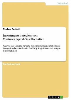 Investmentstrategien von Venture-Capital-Gesellschaften (eBook, ePUB)