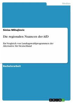 Die regionalen Nuancen der AfD (eBook, ePUB)