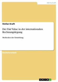 Der Fair Value in der internationalen Rechnungslegung (eBook, ePUB)