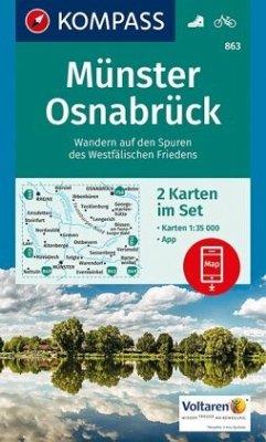 Kompass Karte Münster, Osnabrück, 2 Bl.
