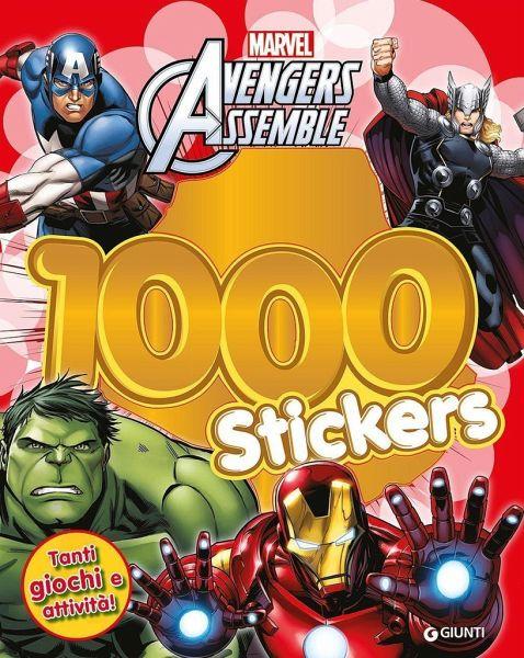 Avengers Assemble 1000 Stickers Con Adesivi Buch Bücherde