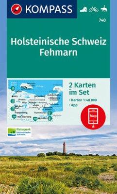 Kompass Karte Holsteinische Schweiz, Fehmarn, 2...