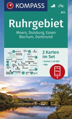 Kompass Karte Ruhrgebiet, 2 Bl.