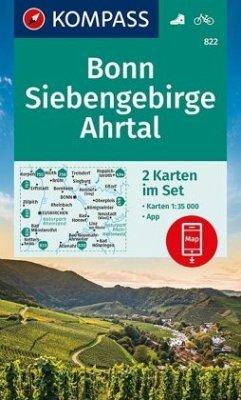 Kompass Karte Bonn, Siebengebirge, Ahrtal, 2 Bl.