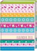 Streifen Floral 17-Monats-Kalenderbuch A6 - 2018