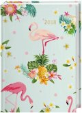 Tropical Flowers Kalenderbuch A6 - Kalender 2018