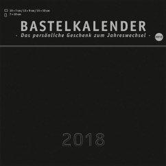 Bastelkalender 2018 schwarz, klein