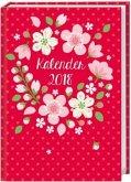 Floral 17-Monats-Kalenderbuch A5 - 2018