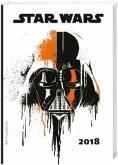 Star Wars 17-Monats-Kalenderbuch A6 - Kalender 2018